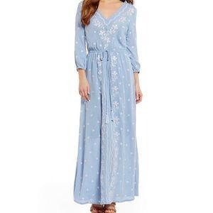 Blu Pepper Embroidered Maxi Dress